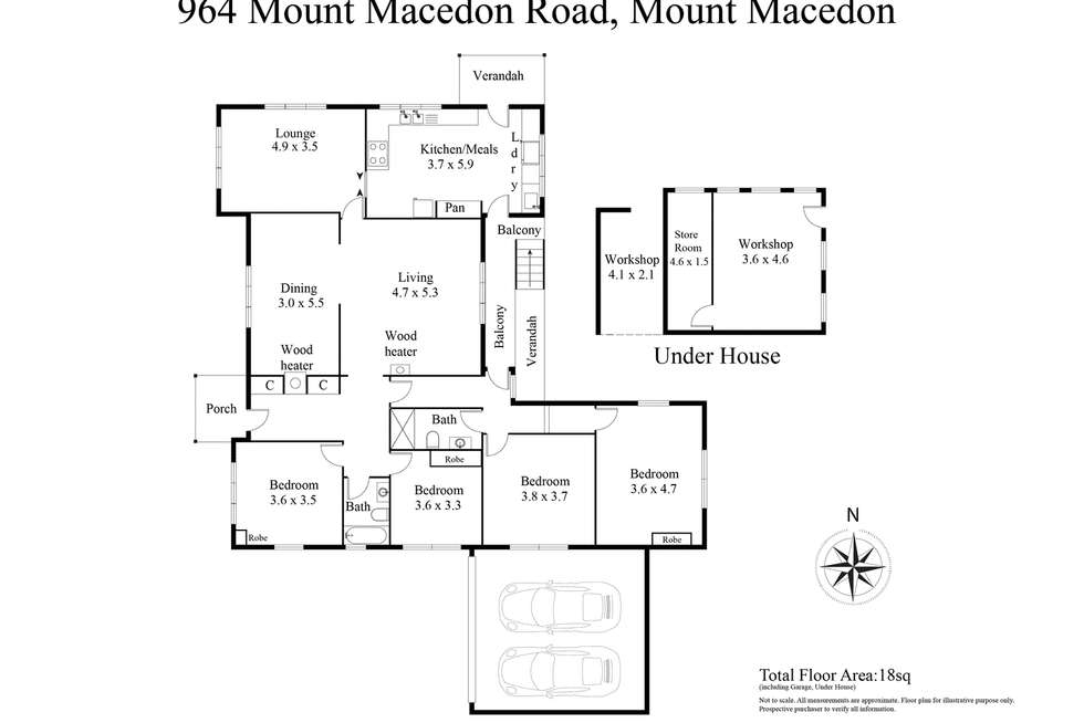 Floorplan of Homely house listing, 964 Mount Macedon Road, Mount Macedon VIC 3441