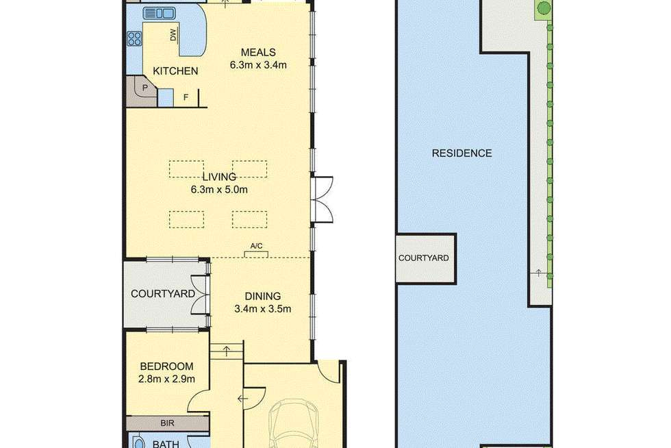 Floorplan of Homely townhouse listing, 4 Hillside Parade, Box Hill North VIC 3129