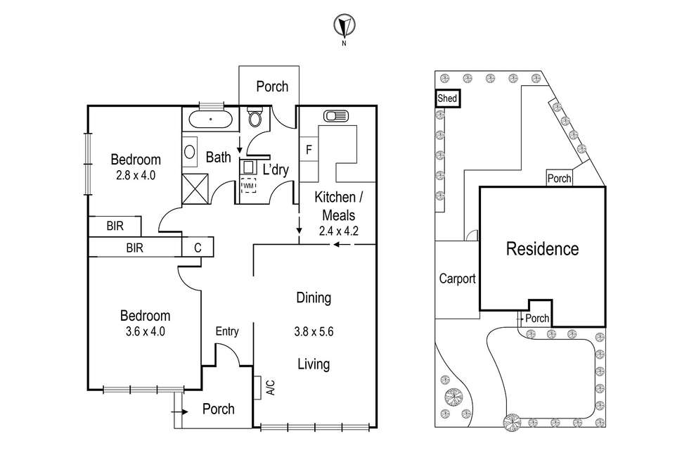 Floorplan of Homely unit listing, 55 Green Street, Ivanhoe VIC 3079