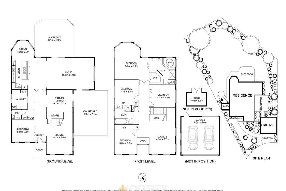 Floorplan of Homely house listing, 3 Sweeney Court, Highton VIC 3216