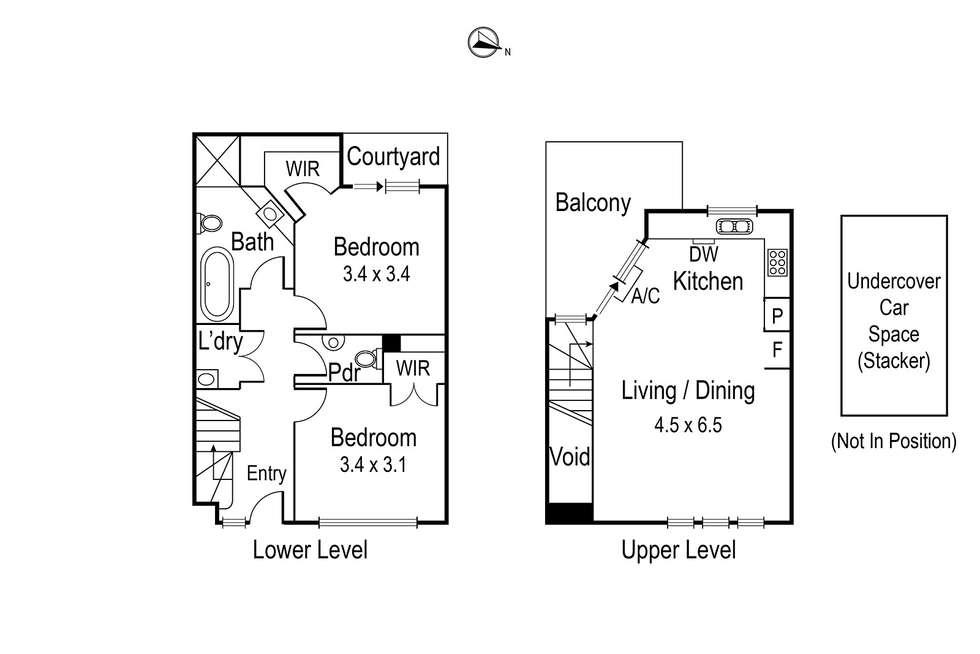 Floorplan of Homely townhouse listing, 8/81 Lower Heidelberg Road, Ivanhoe VIC 3079