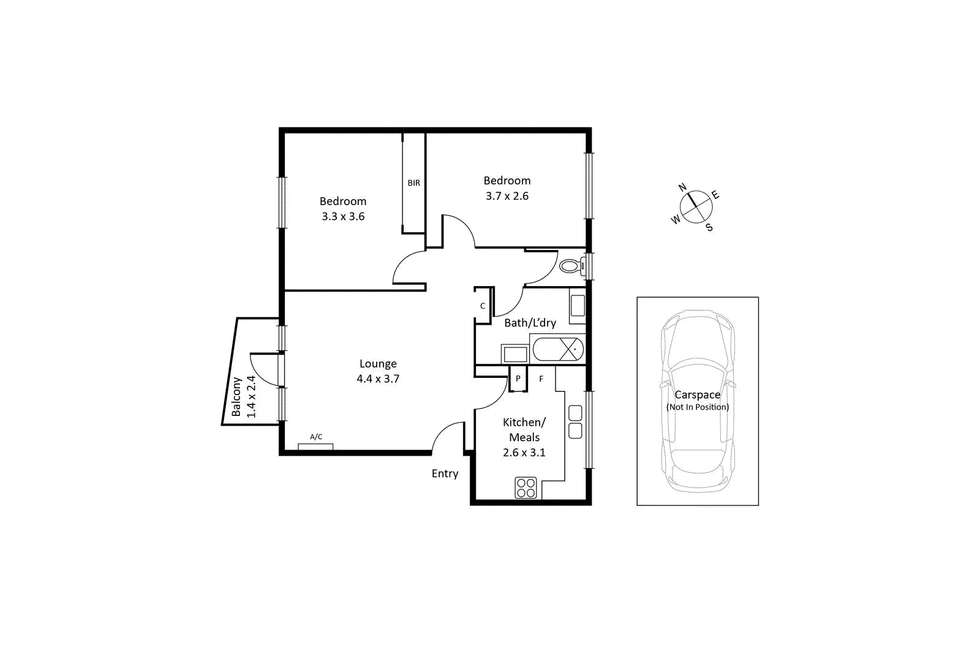 Floorplan of Homely apartment listing, 10/99 Verdon Street, Williamstown VIC 3016