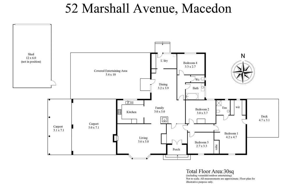 Floorplan of Homely house listing, 52 Marshall Avenue, Macedon VIC 3440