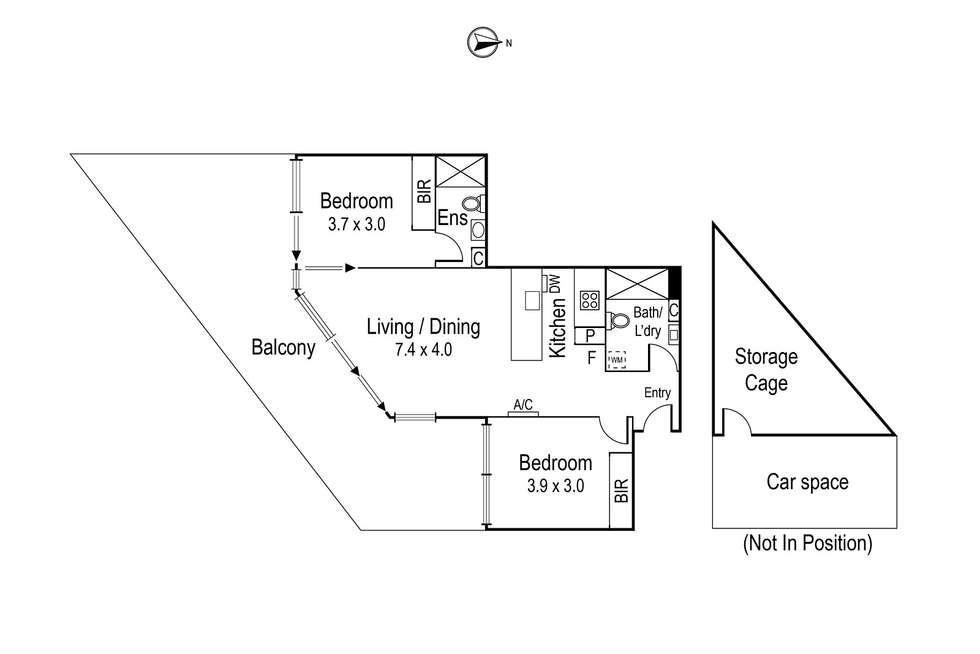 Floorplan of Homely apartment listing, 206/204-206 Lower Heidelberg Road, Ivanhoe East VIC 3079