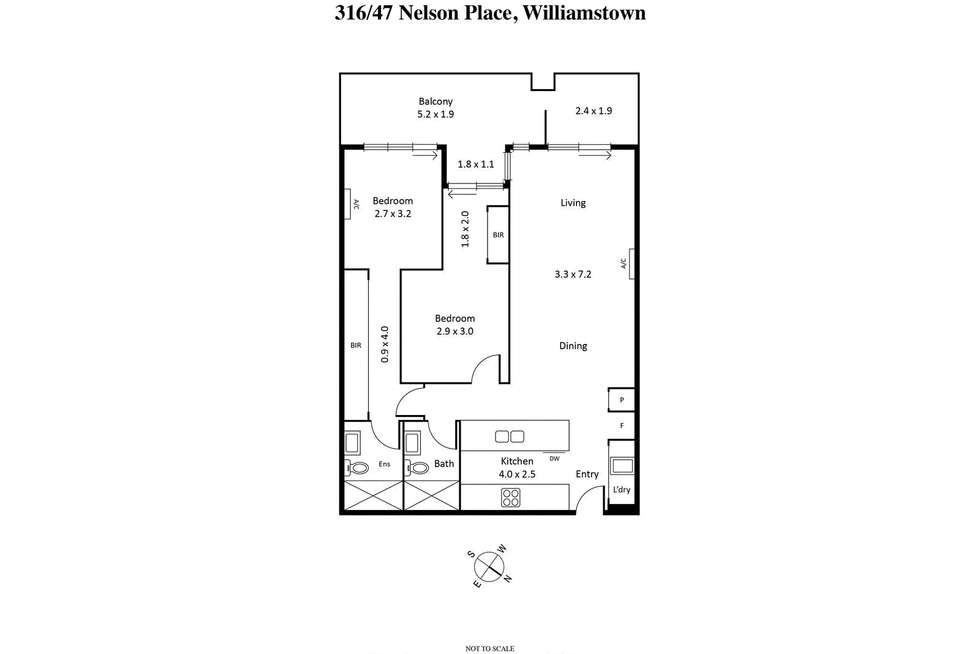 Floorplan of Homely apartment listing, 316/47 Nelson Place, Williamstown VIC 3016
