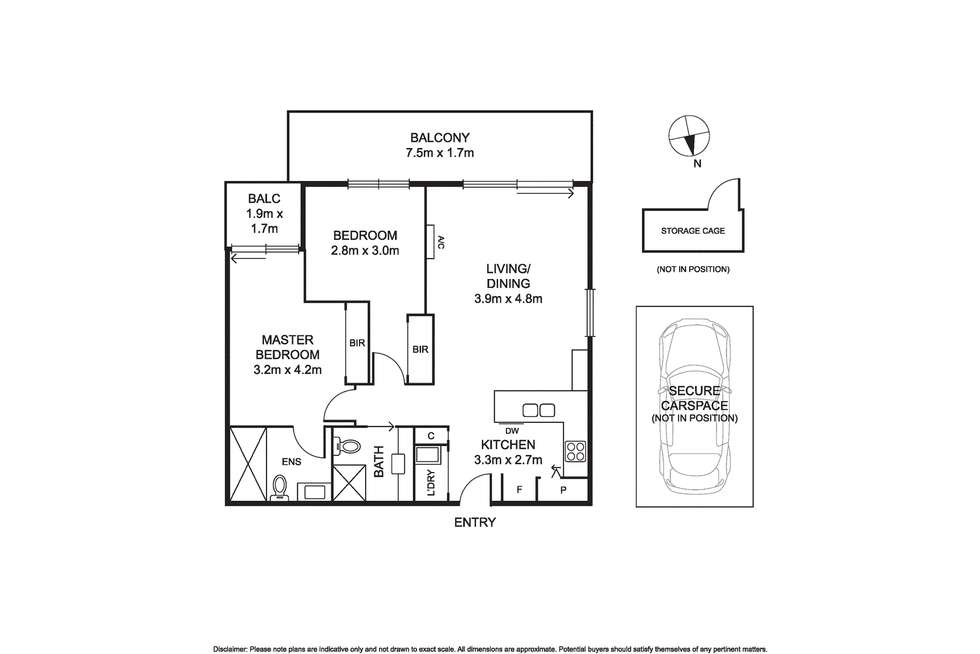 Floorplan of Homely apartment listing, 305/144 Collins Street, Mentone VIC 3194