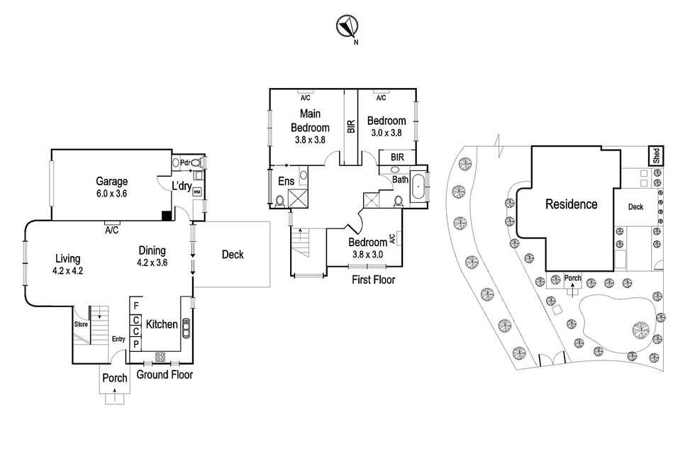 Floorplan of Homely townhouse listing, 1/117 Beatty Street, Ivanhoe VIC 3079
