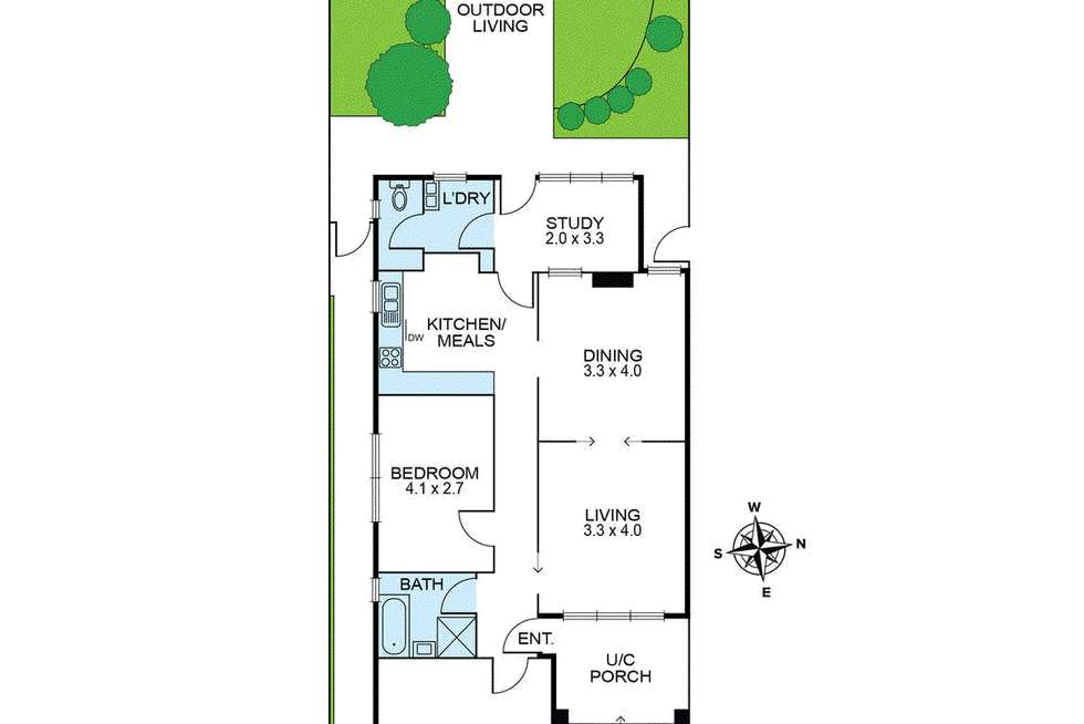 Floorplan of Homely house listing, 35 Woolhouse Street, Northcote VIC 3070