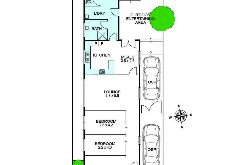 Floorplan of Homely house listing, 137 Gooch Street, Thornbury VIC 3071