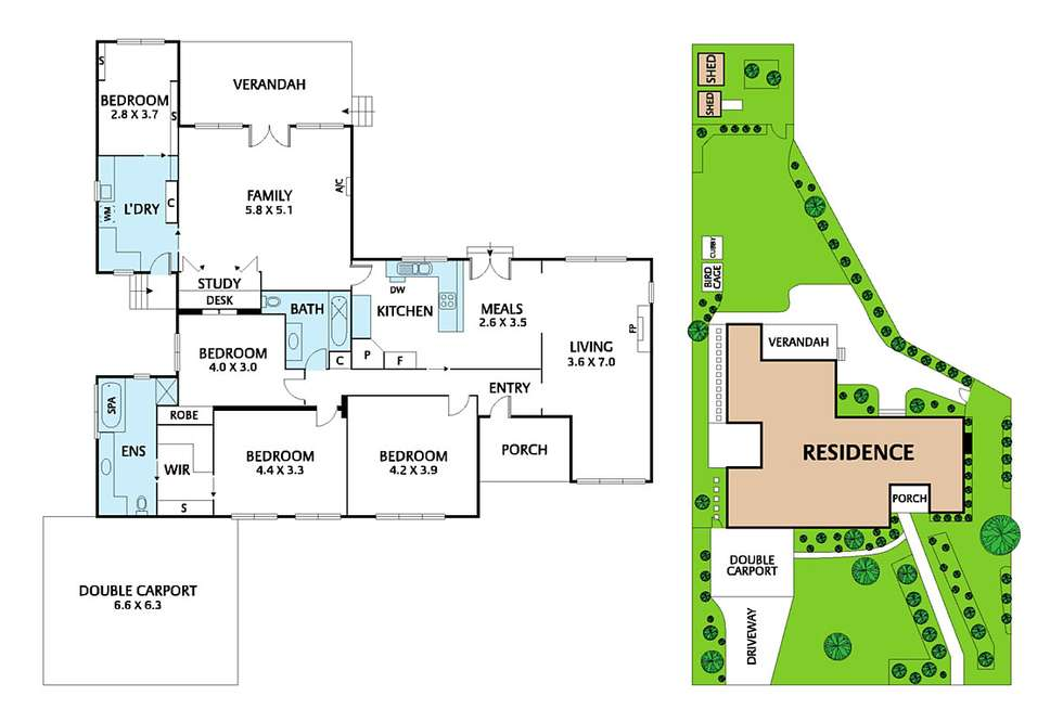 Floorplan of Homely house listing, 6 Frances Avenue, Vermont VIC 3133