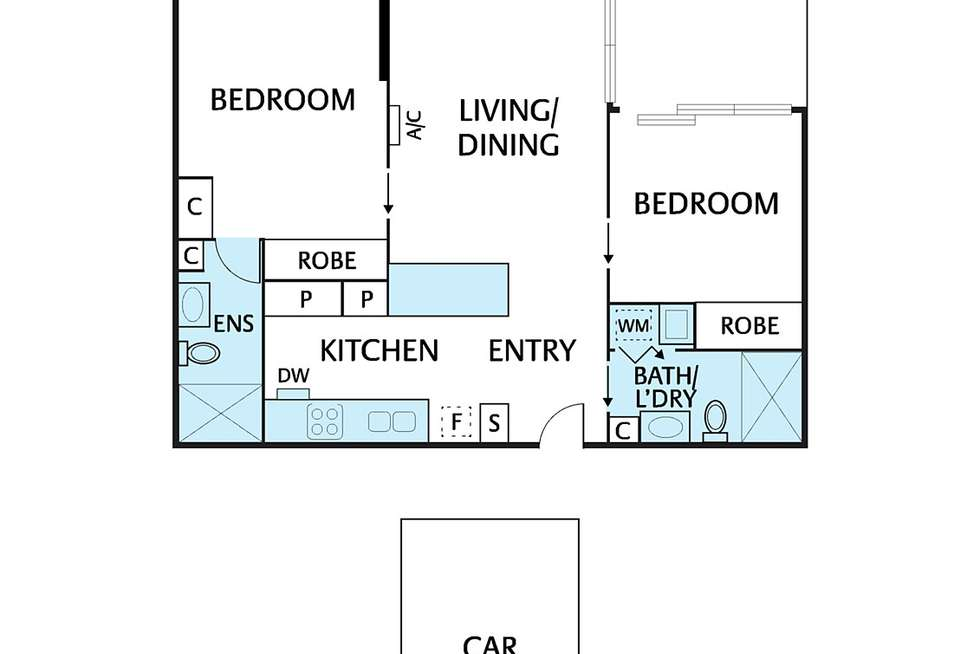 Floorplan of Homely apartment listing, 109/1 Westley Avenue, Ivanhoe VIC 3079