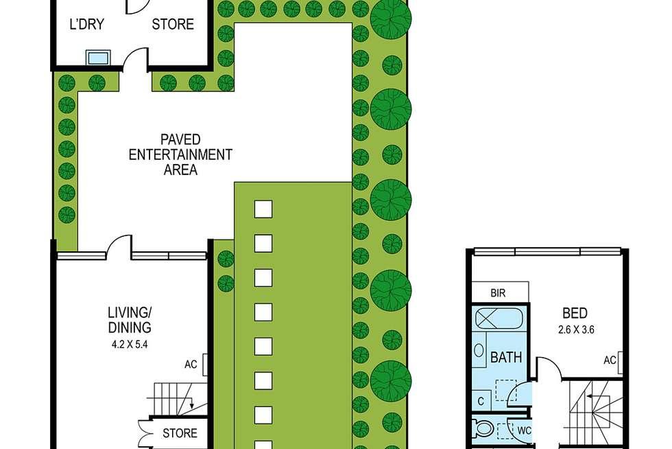 Floorplan of Homely townhouse listing, 19/89 Neerim Road, Glen Huntly VIC 3163
