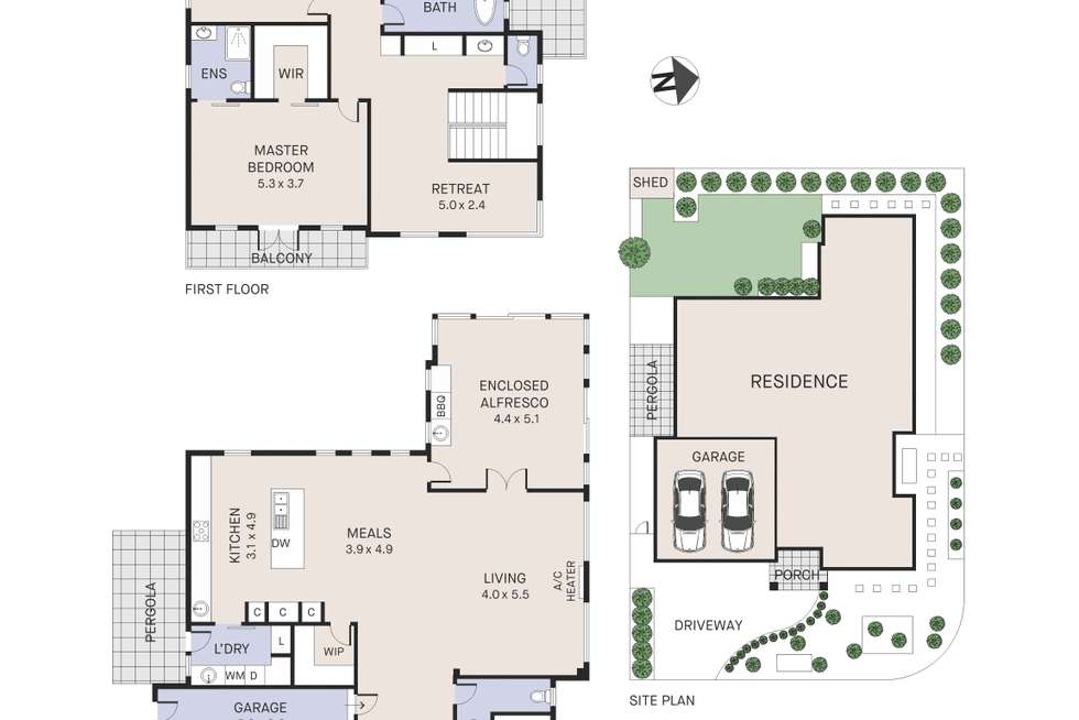 Floorplan of Homely house listing, 26 Central Parkway, Caroline Springs VIC 3023
