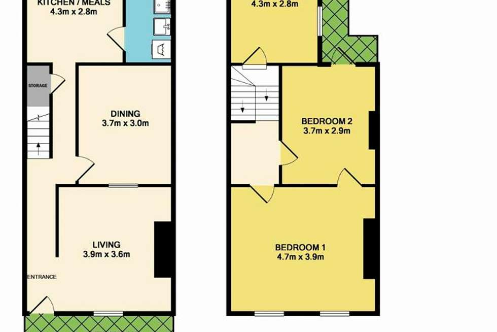 Floorplan of Homely house listing, 33 Cobden Street, North Melbourne VIC 3051