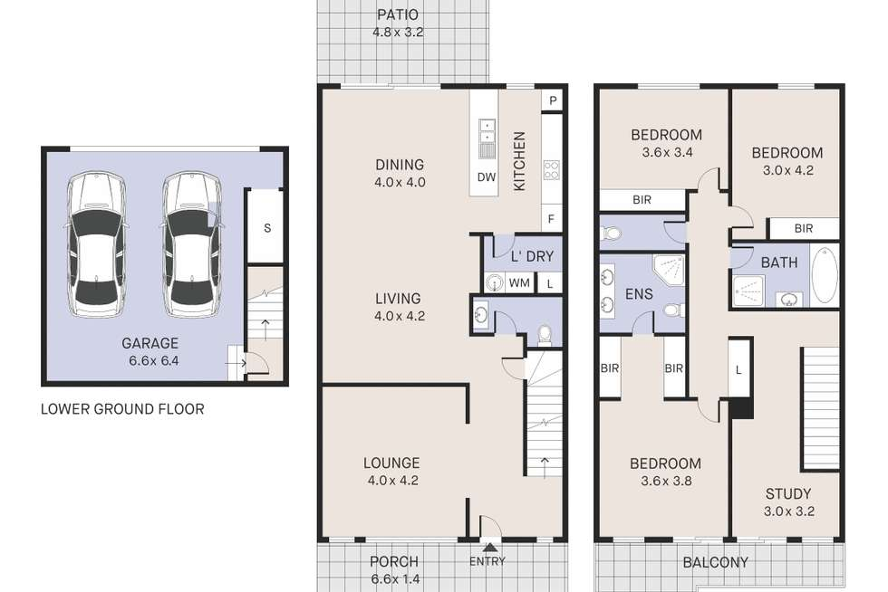 Floorplan of Homely townhouse listing, 2/12-14 Angophora Circuit, Warriewood NSW 2102