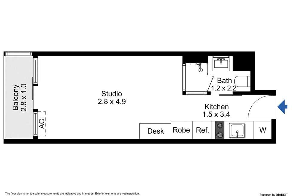 Floorplan of Homely studio listing, 2310/181 ABeckett Street, Melbourne VIC 3000