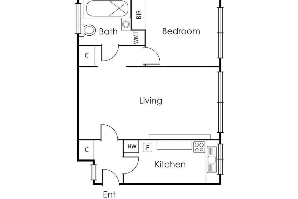 Floorplan of Homely apartment listing, 8/211 Williams Road, South Yarra VIC 3141
