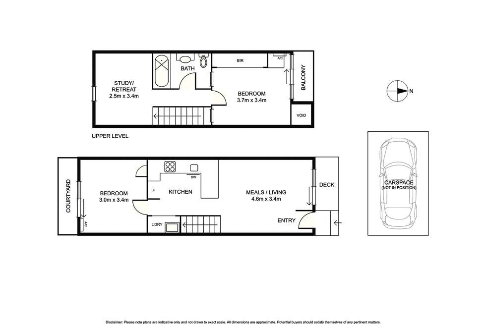 Floorplan of Homely townhouse listing, 6/12 Wyuna Road, Caulfield North VIC 3161