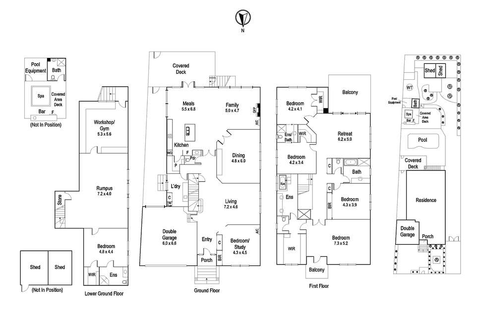 Floorplan of Homely house listing, 13 Lantana Street, Ivanhoe VIC 3079
