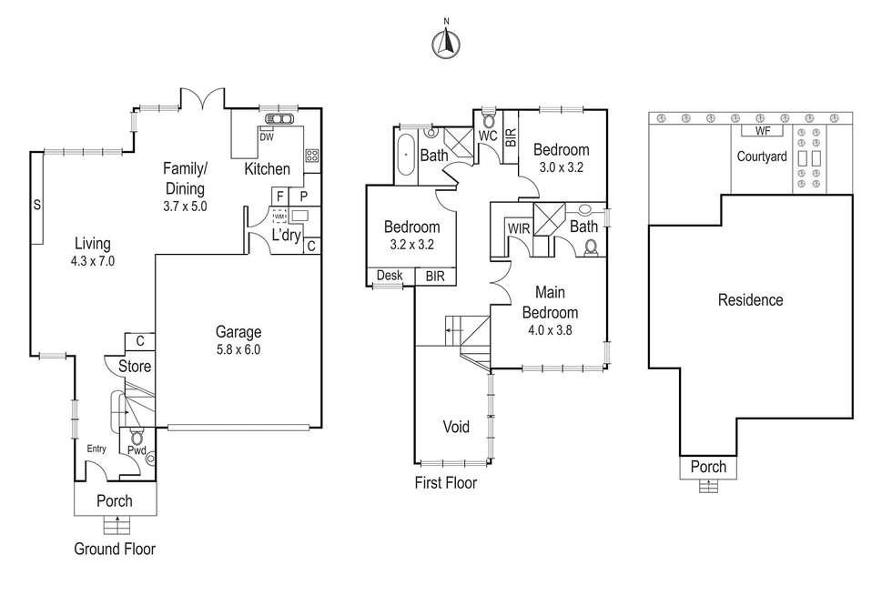 Floorplan of Homely townhouse listing, 2/2 Noel Street, Ivanhoe VIC 3079