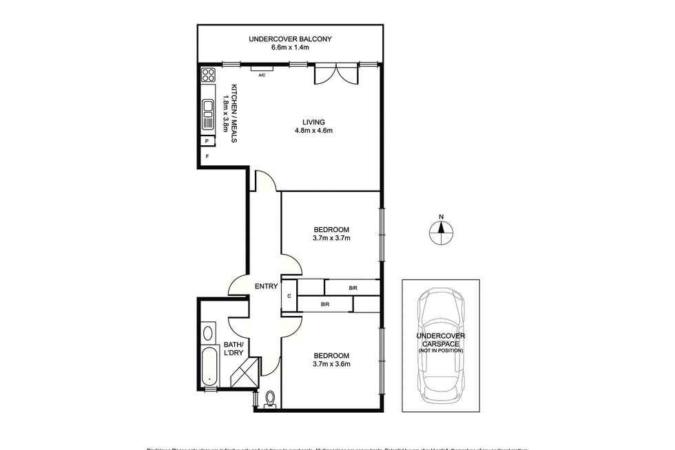 Floorplan of Homely apartment listing, 14/379 Dandenong Road, Armadale VIC 3143