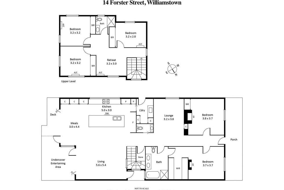 Floorplan of Homely house listing, 14 Forster Street, Williamstown VIC 3016