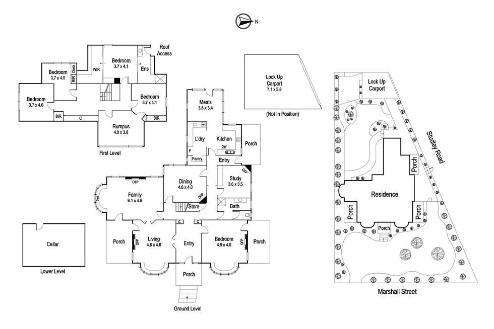 Floorplan of Homely house listing, 151 Marshall Street, Ivanhoe VIC 3079