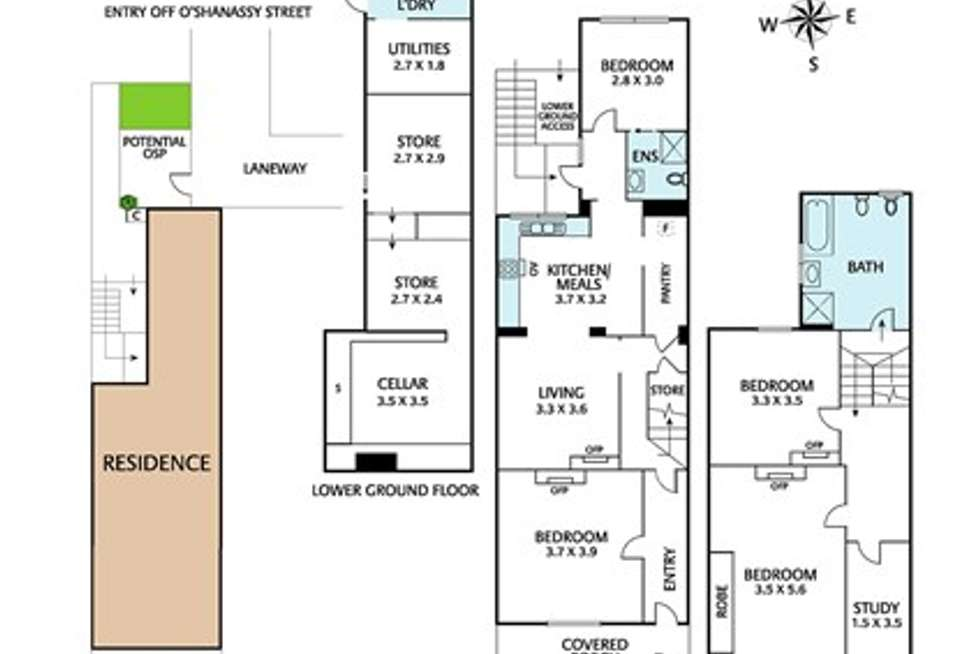 Floorplan of Homely house listing, 60 Arden Street, North Melbourne VIC 3051