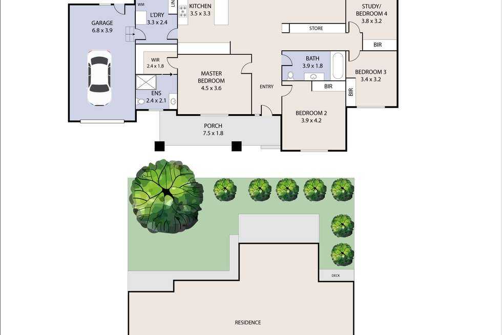 Floorplan of Homely house listing, 20 Ailsa Grove, Ivanhoe VIC 3079