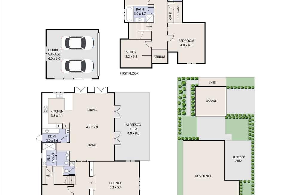 Floorplan of Homely house listing, 4 Sherdley Green, Caroline Springs VIC 3023