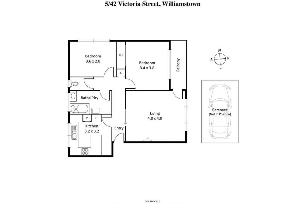 Floorplan of Homely apartment listing, 5/42 Victoria Street, Williamstown VIC 3016