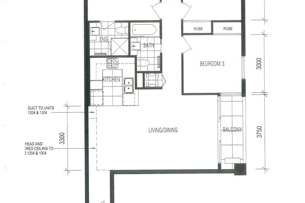 Floorplan of Homely apartment listing, 404/58 Jeffcott Street, West Melbourne VIC 3003