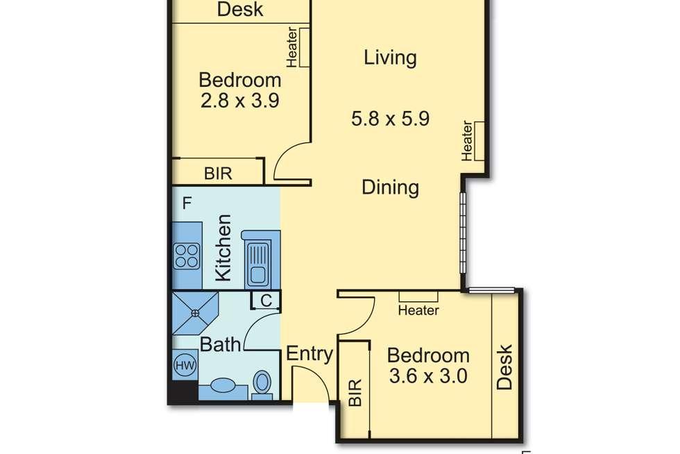 Floorplan of Homely apartment listing, 4102/550 Lygon Street, Carlton VIC 3053