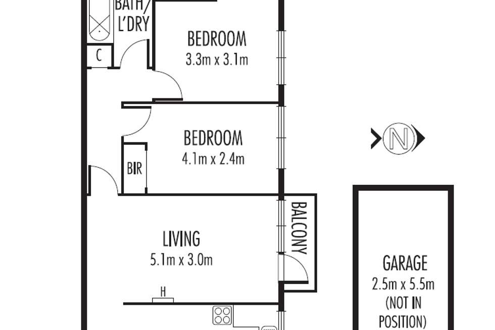 Floorplan of Homely apartment listing, 4/123 Murray  Street, Caulfield VIC 3162