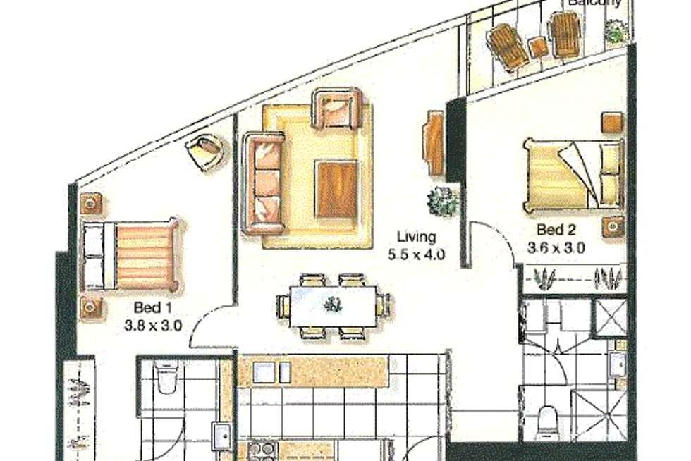 Floorplan of Homely apartment listing, 2102/100 Harbour Esplanade, Docklands VIC 3008
