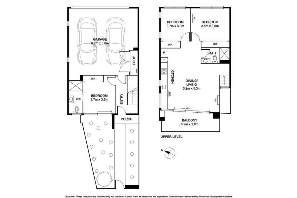 Floorplan of Homely townhouse listing, 3/36 Jean Street, Cheltenham VIC 3192