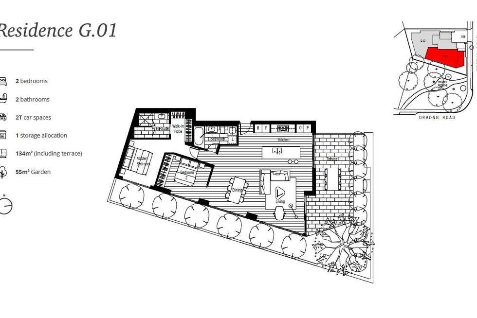 Floorplan of Homely apartment listing, G01/508 Toorak Road, Toorak VIC 3142