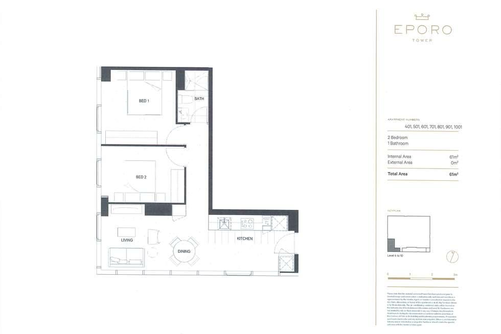Floorplan of Homely apartment listing, 501/285 La Trobe Street, Melbourne VIC 3000