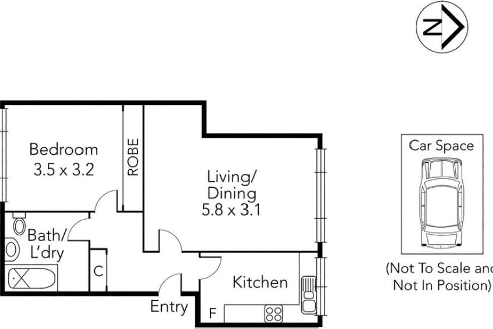 Floorplan of Homely apartment listing, 12/12 Belmont  Avenue, Glen Iris VIC 3146
