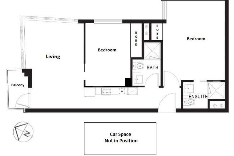 Floorplan of Homely apartment listing, 806/8 Exploration  Lane, Melbourne VIC 3000