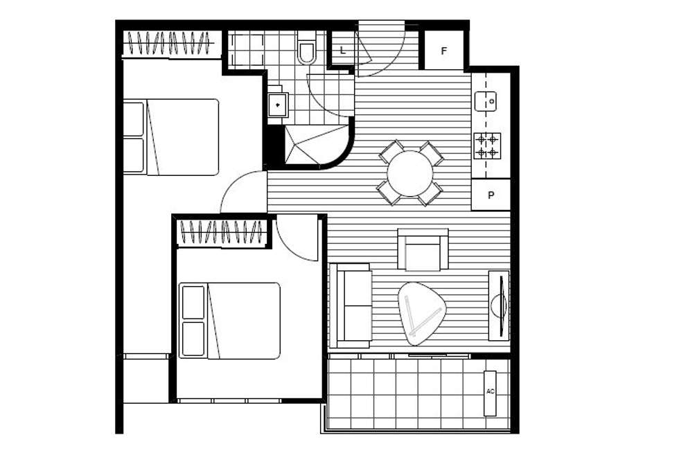 Floorplan of Homely apartment listing, 316/101 Bay Street, Port Melbourne VIC 3207