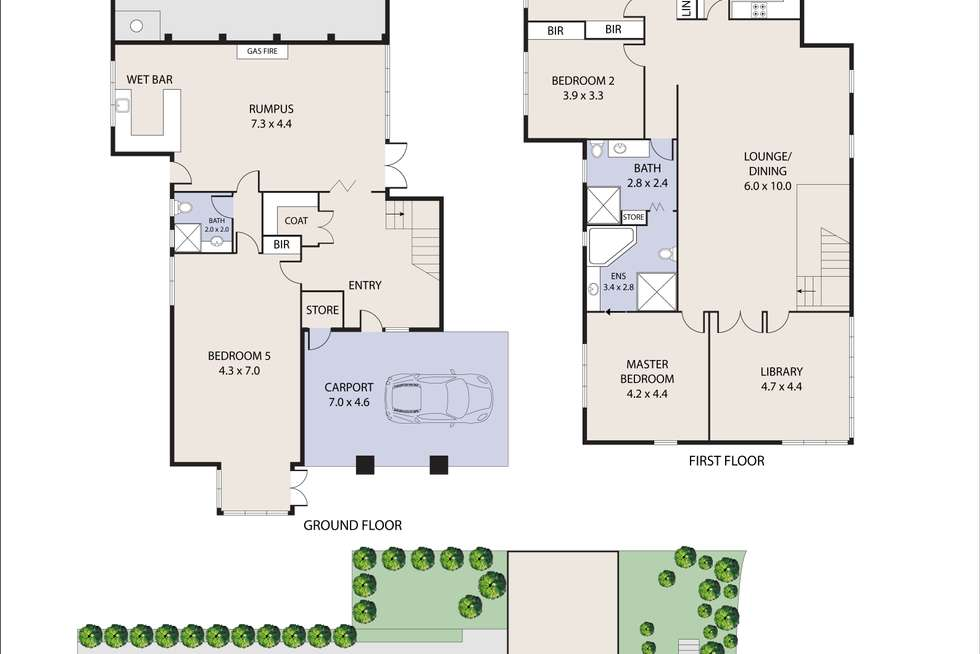 Floorplan of Homely house listing, 2 The Spur, Frankston South VIC 3199