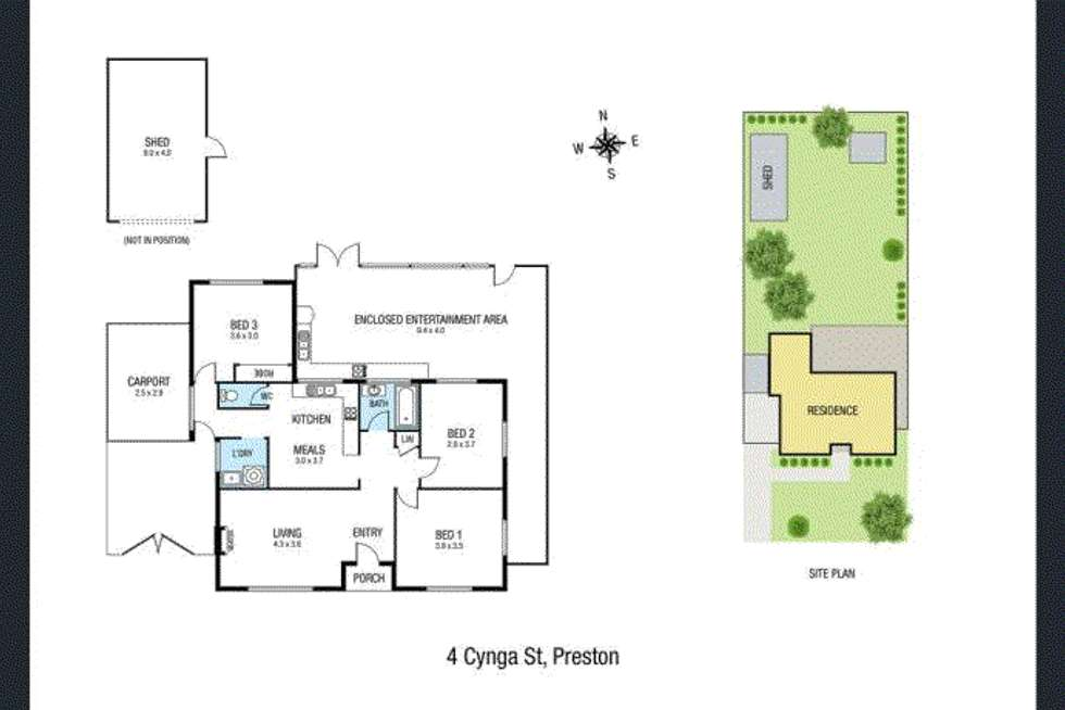 Floorplan of Homely house listing, 4 Cynga Street, Preston VIC 3072