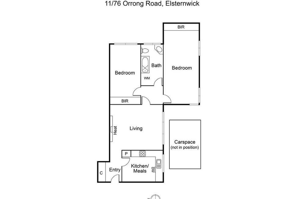 Floorplan of Homely apartment listing, 11/76 Orrong  Road, Elsternwick VIC 3185
