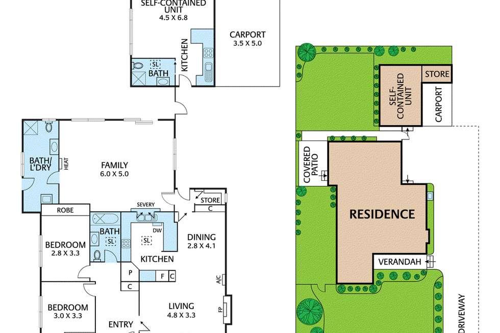 Floorplan of Homely unit listing, 1/3 Owen Street, Mitcham VIC 3132
