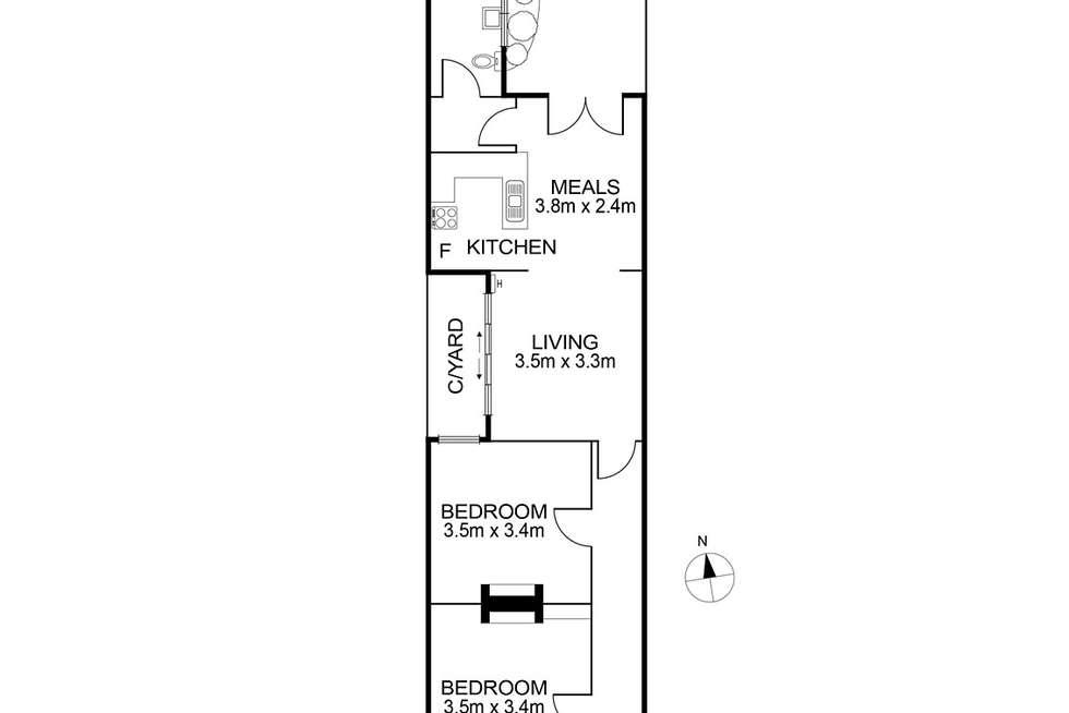 Floorplan of Homely house listing, 30 Lyle Street, Brunswick VIC 3056