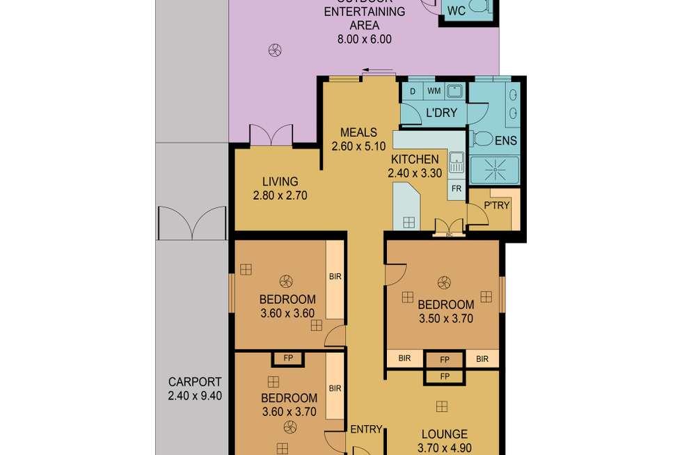 Floorplan of Homely house listing, 15 Victoria  Street, Albert Park SA 5014