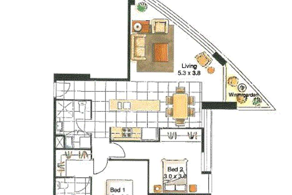 Floorplan of Homely apartment listing, 3505/100 Harbour Esplanade, Docklands VIC 3008