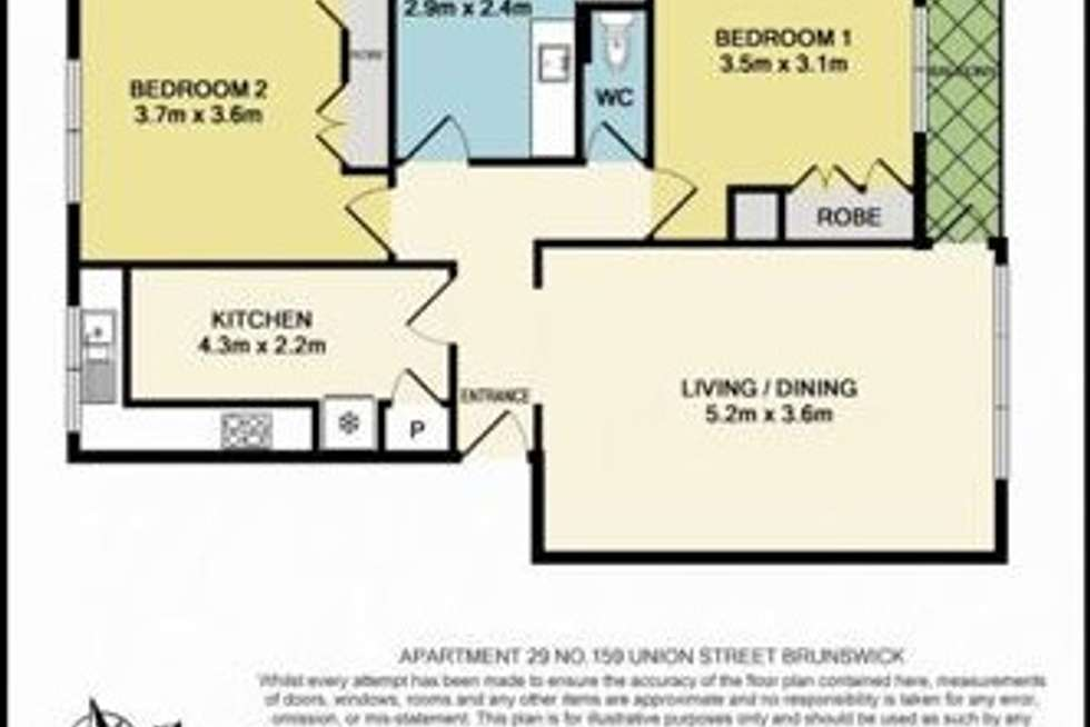 Floorplan of Homely apartment listing, 29/159 Union Street, Brunswick VIC 3056