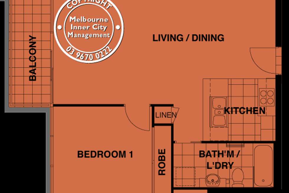Floorplan of Homely apartment listing, 239/88 Kavanagh Street, Southbank VIC 3006